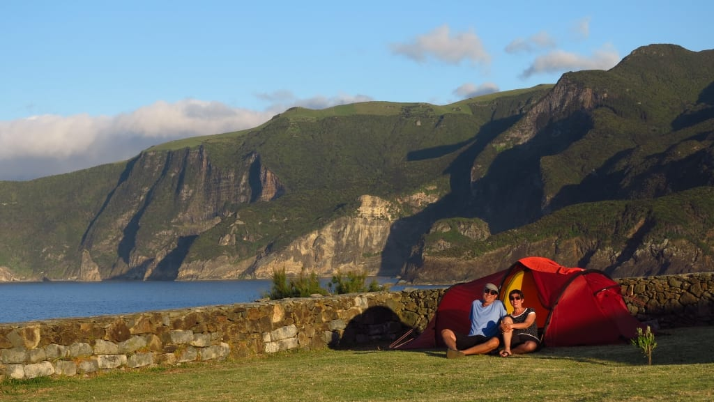Campingplatz in Ponta delgada auf Flores auf den Azoren