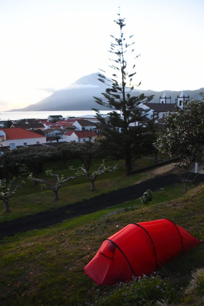 Campingplatz in Lajes do Pico auf den Azoren