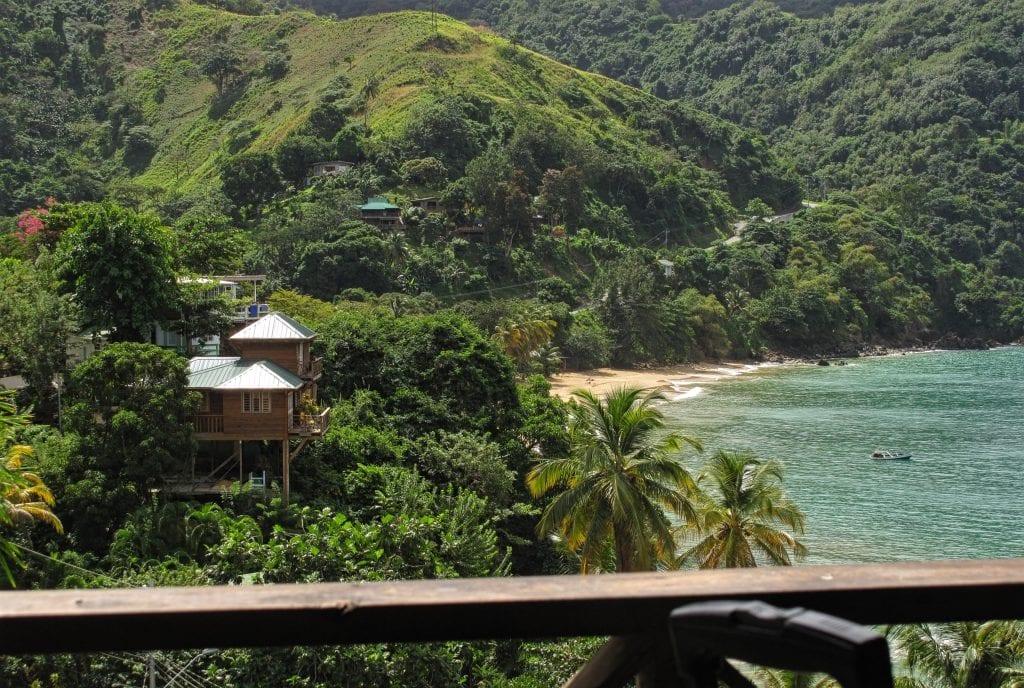 Blick auf die Bucht von Castara Tobago