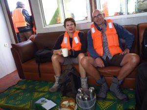 Auf der Fähre von Rubavu nach Karongi in Ruanda