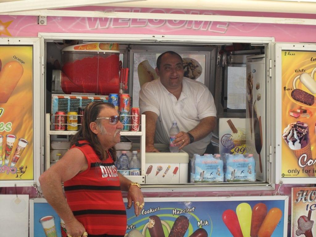 Fahrbarer Kiosk in Victoria auf Gozo