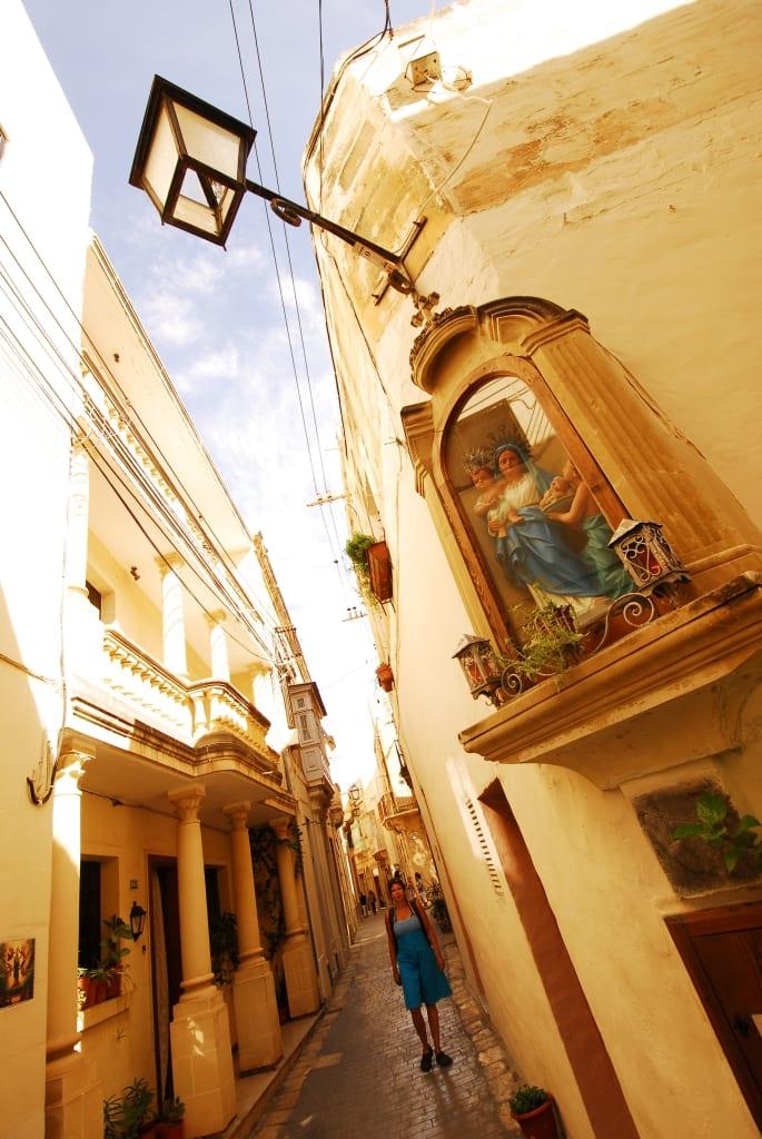 Altstadtgasse von Victoria auf Gozo