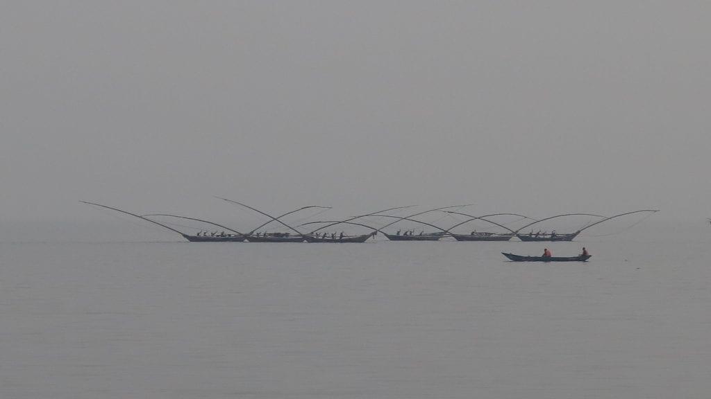 Fischerboote im Lake Kivu in Ruanda
