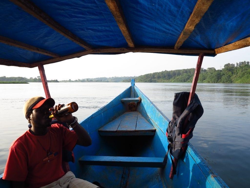 Bootsfahrt auf dem Nil in Uganda