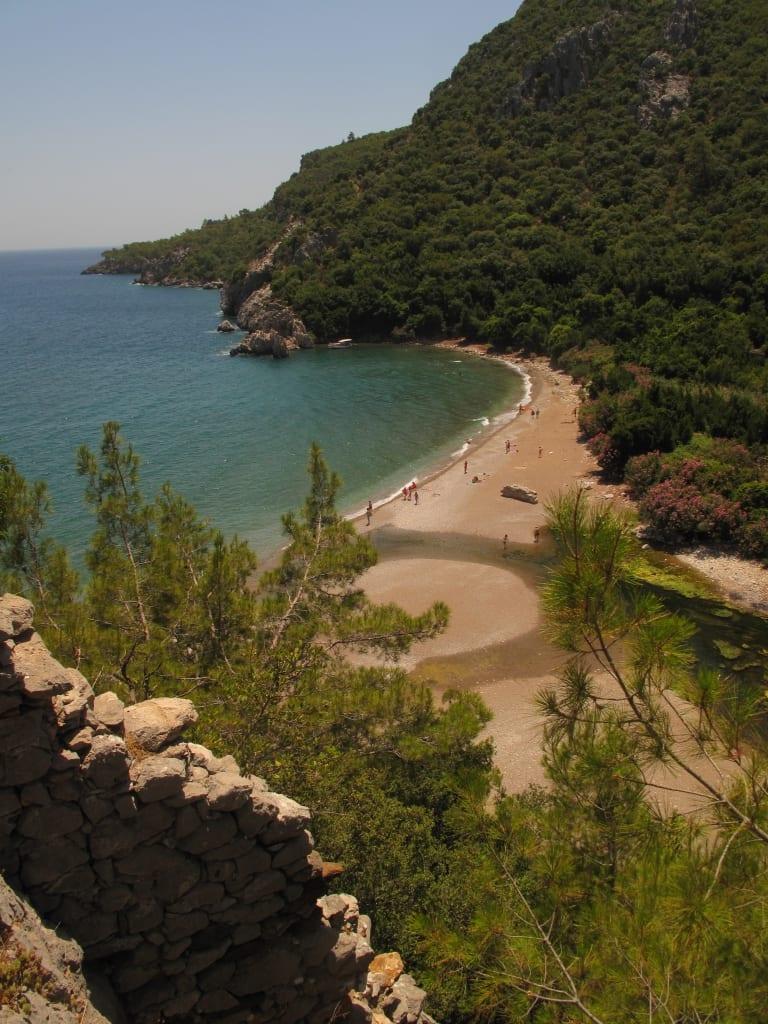 Ausblick von der Akropolis von Olympos an der Lykischen Küste/Türkei