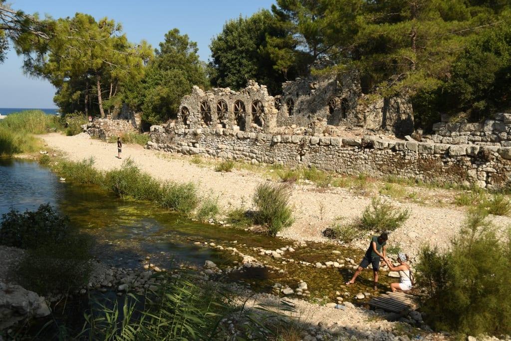 Ruinen von Olympos an der Lykischen Küste/Türkei