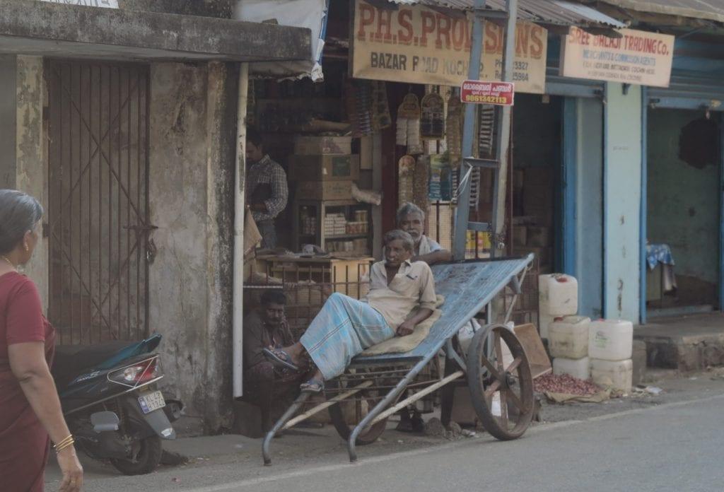 Marktviertel von Kochi in Kerala