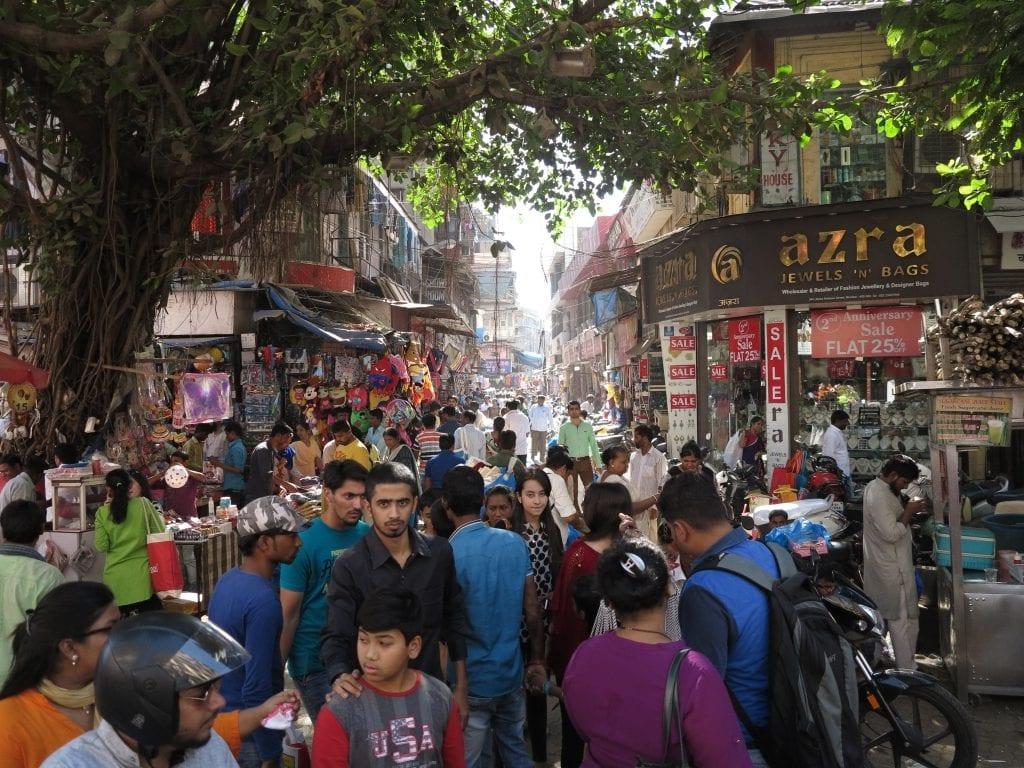 Marktviertel in Mumbai