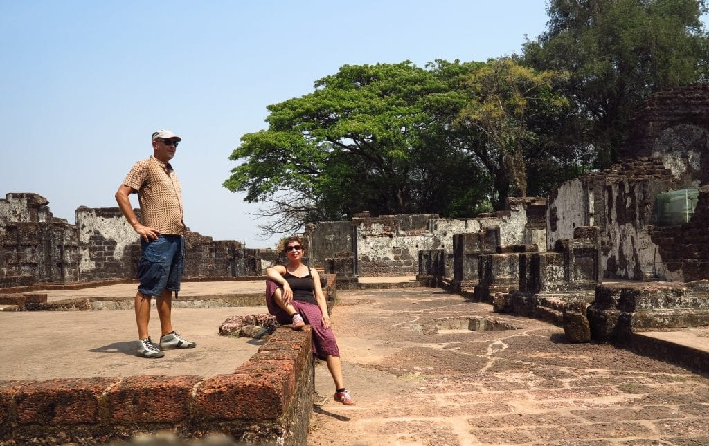 Gabriele Tröger und Michael Bussmann in Goa Velha