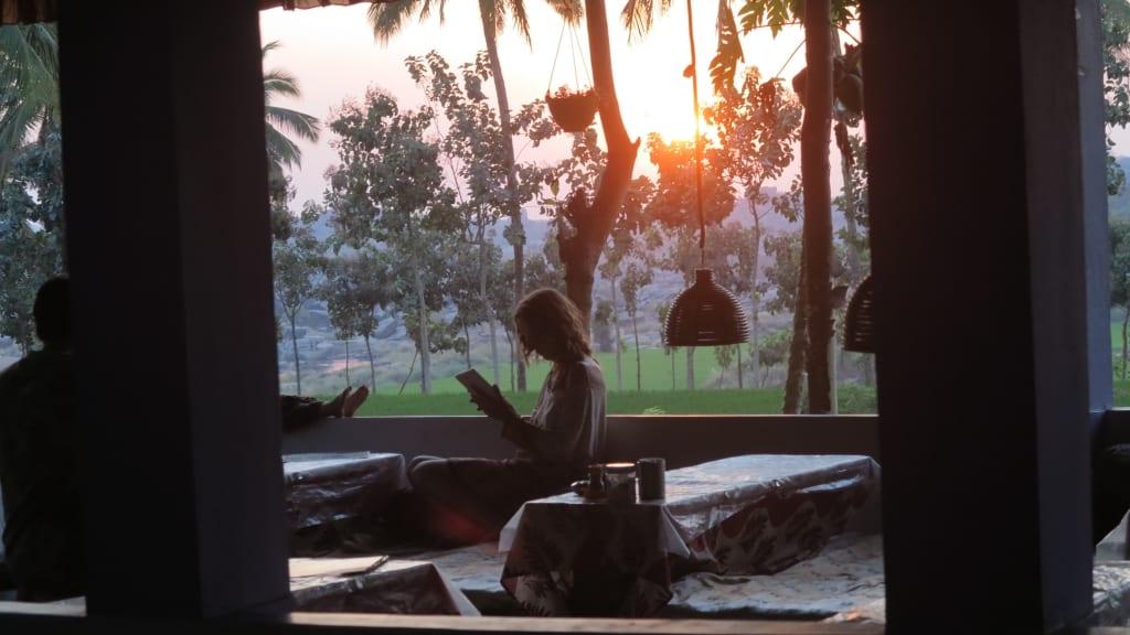 Mowgli Guesthouse in Hampi in Indien