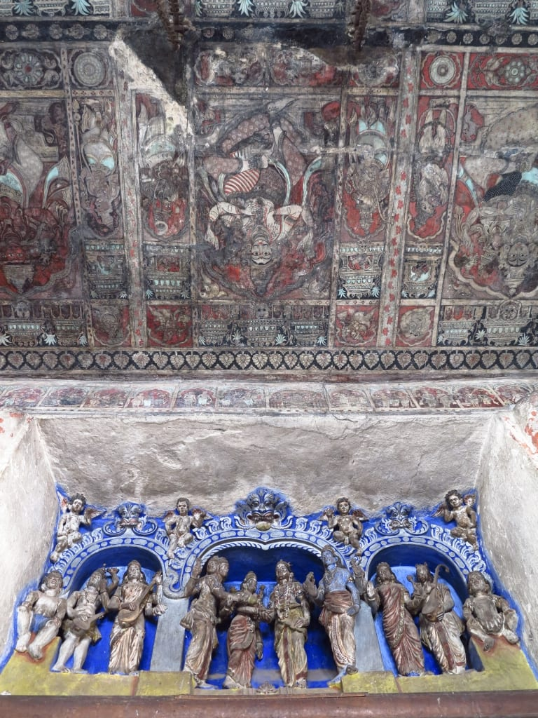 Tempelausschmückung in Hampi in Indien