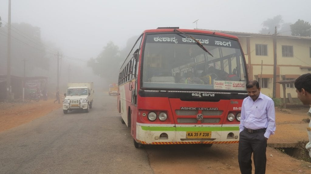 Öffentlicher Bus in Indien
