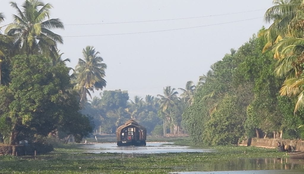 Gausboot in den Backwaters in Kerala