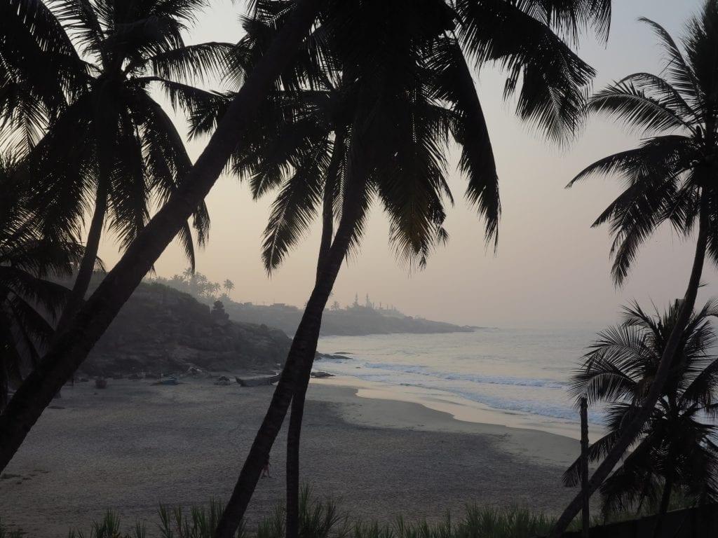 Bucht in Kovalam in Kerala