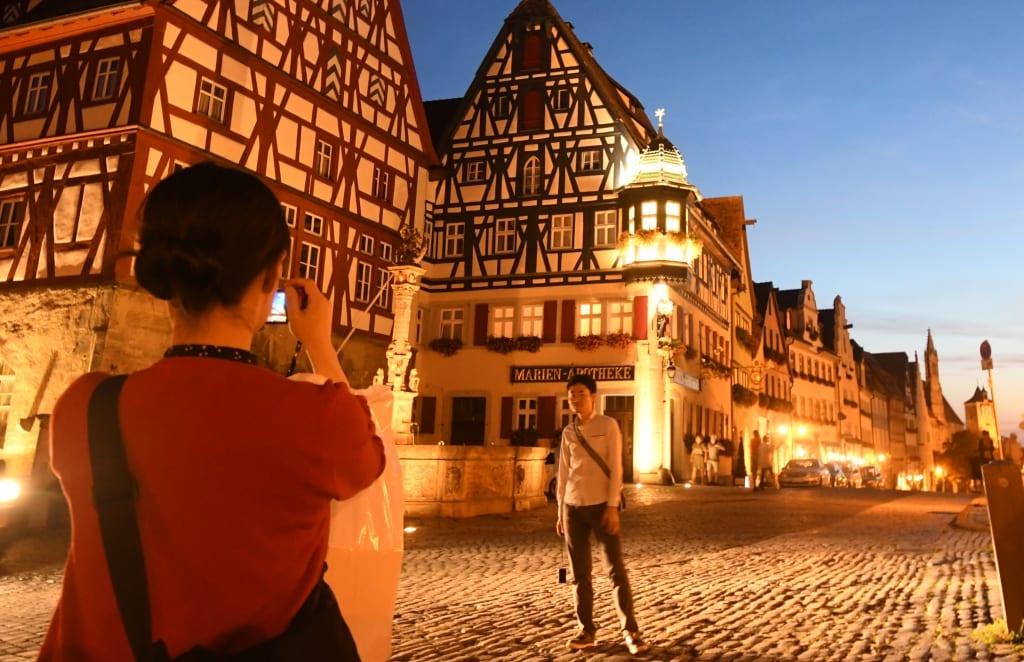 Rothenburg ob der Tauber im Abendlicht
