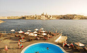 Blick von Sliema auf Valletta in Malta