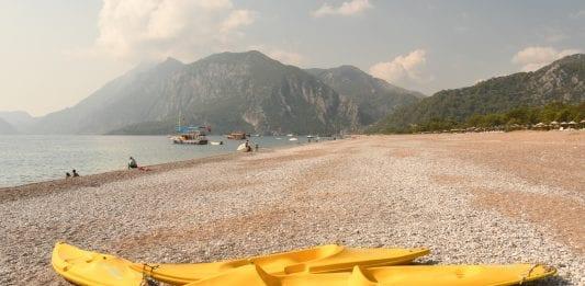 Strand von Cirali an der lykischen Küste in der Türkei