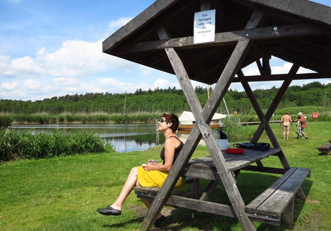 Wasserwanderrasplatz im Peenetal in Mecklenburg