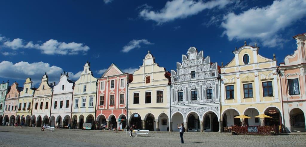Das Renaissancestädtchen Telc in Tschechien