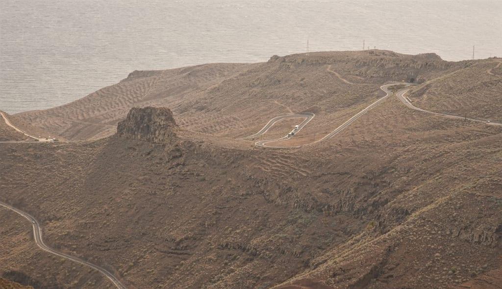 Kurvenstraßen auf La Gomera