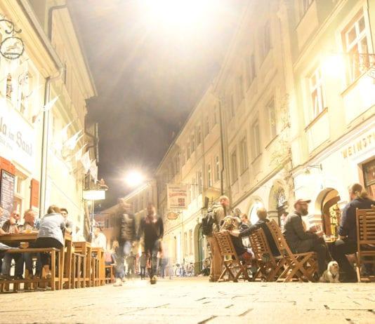 Sandstraße Bamberg am Abend