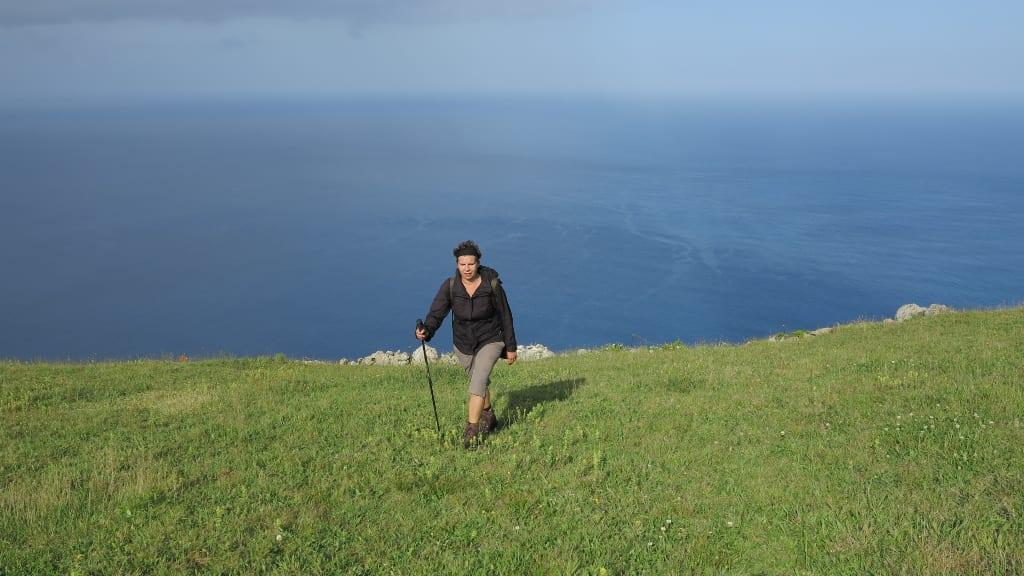 Wanderweg auf Corvo (Azoren)