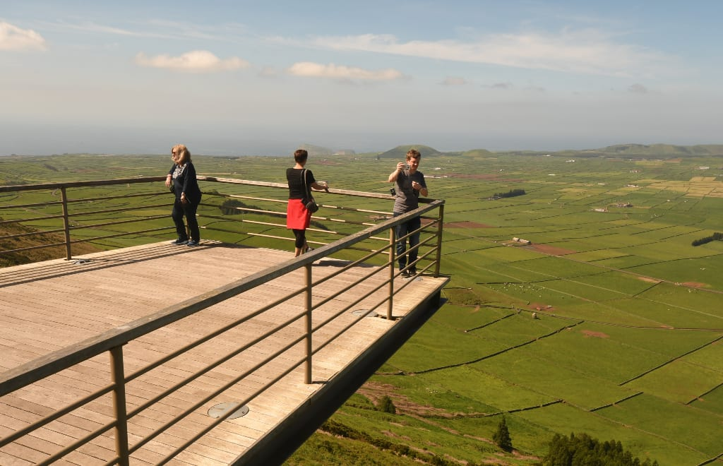 Skywalk auf der Serra do Cume auf Terceira
