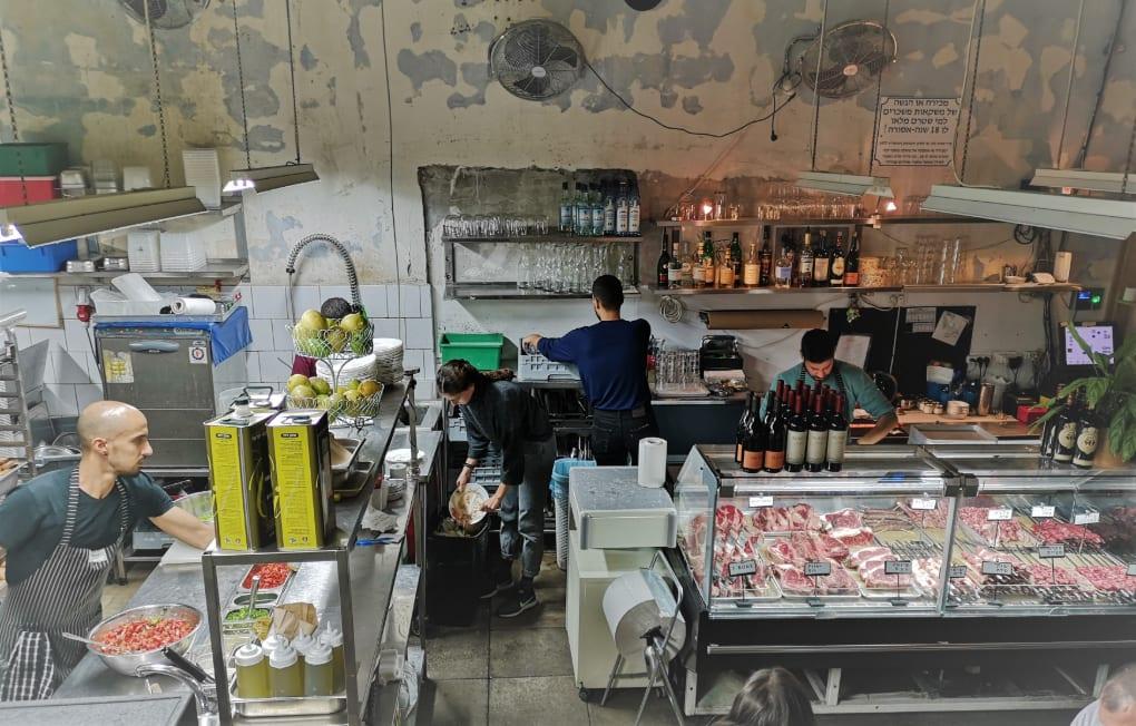 Meat Market im Carmel Market in Tel Aviv