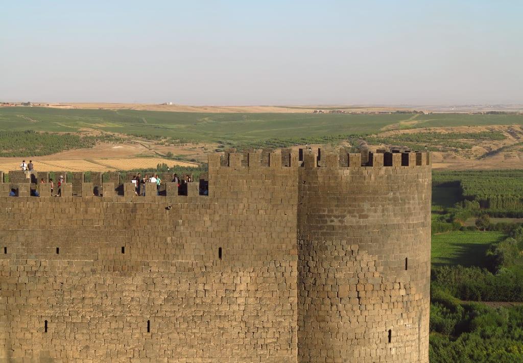 Die Festungsmauern von Diyarbakir in der Türkei