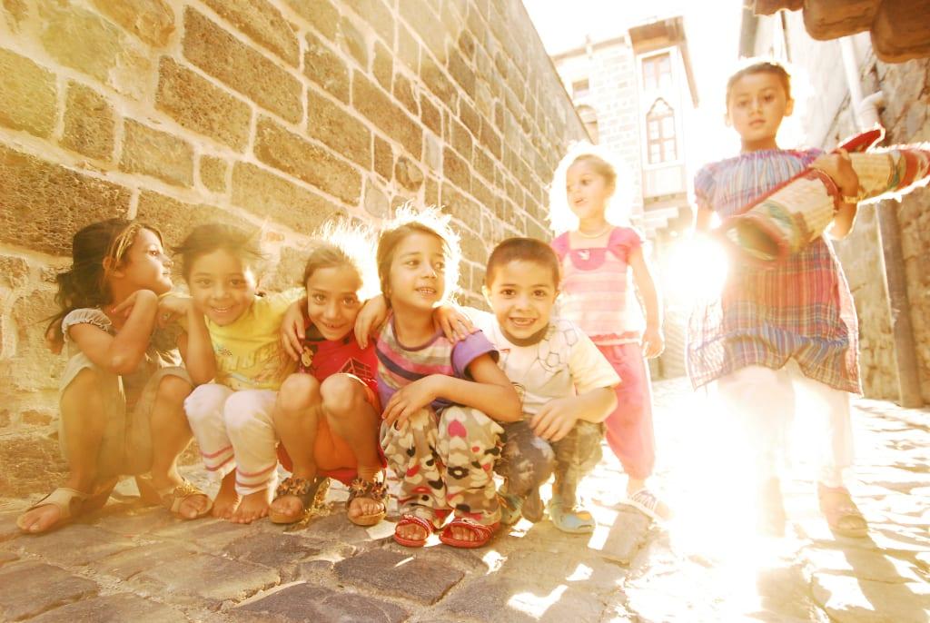 Kinder in Diyarbakir