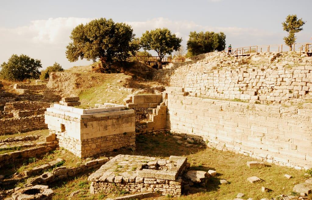 Die Ruinen von Troja in der Türkei