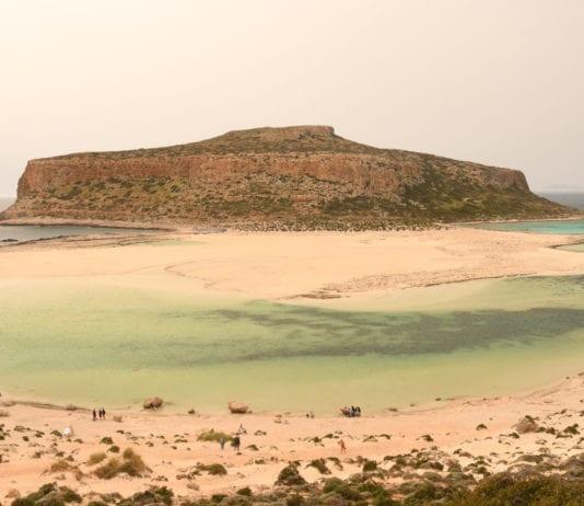 Türkisfarbene Bucht Balos auf Kreta